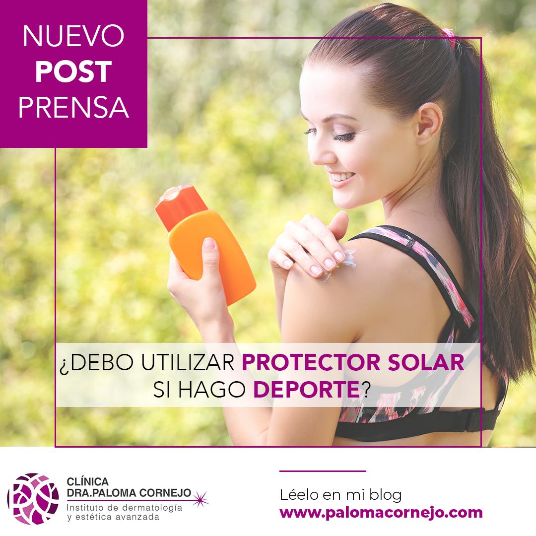¿Debo utilizar protector solar si hago deporte?